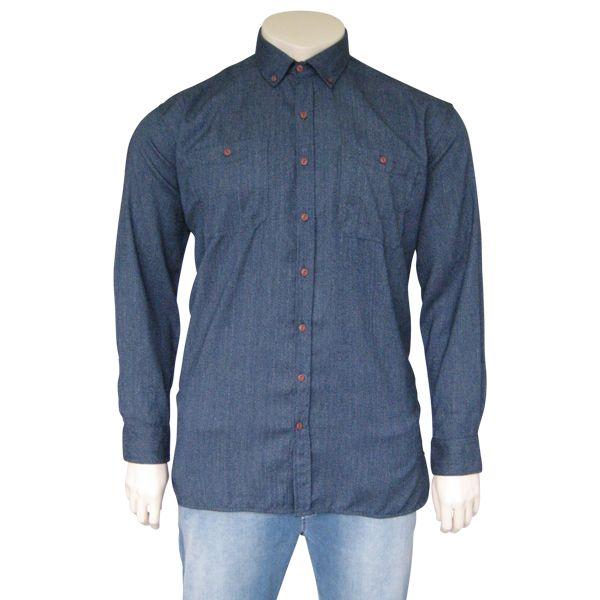 Kingsize Brand 244 Grote maten Blauw Overhemd
