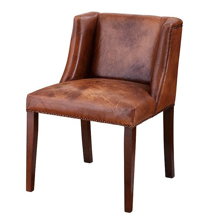 Eichholtz eichholtz ding chair st james stoel van bruin for Eettafel stoelen wit leer