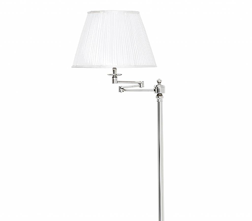 eichholtz verstelbare vloerlamp zilver nikkel floor lamp
