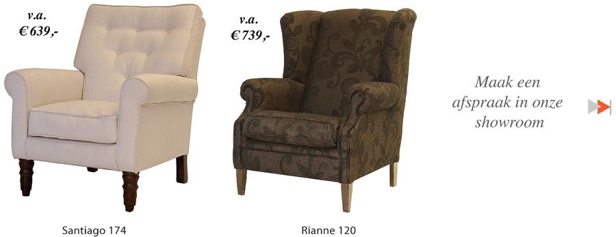 grote-fauteuils-beige-bloemenmotief-bruin-stof-en-leer