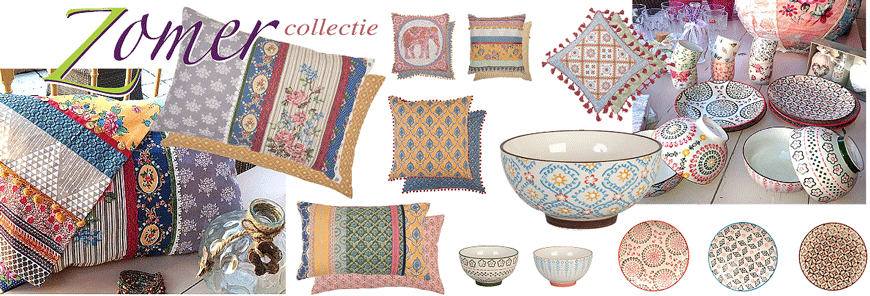 zomercollectie woonaccessoirs