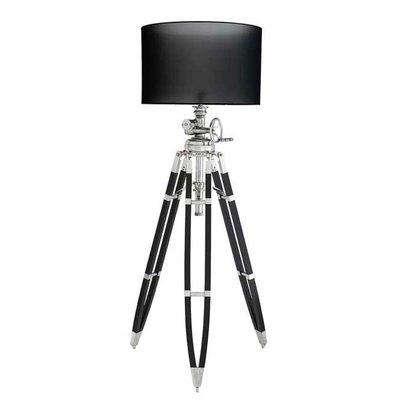 Kleine Zilvere Driepoot Studiolamp Nikkel Statieflampen