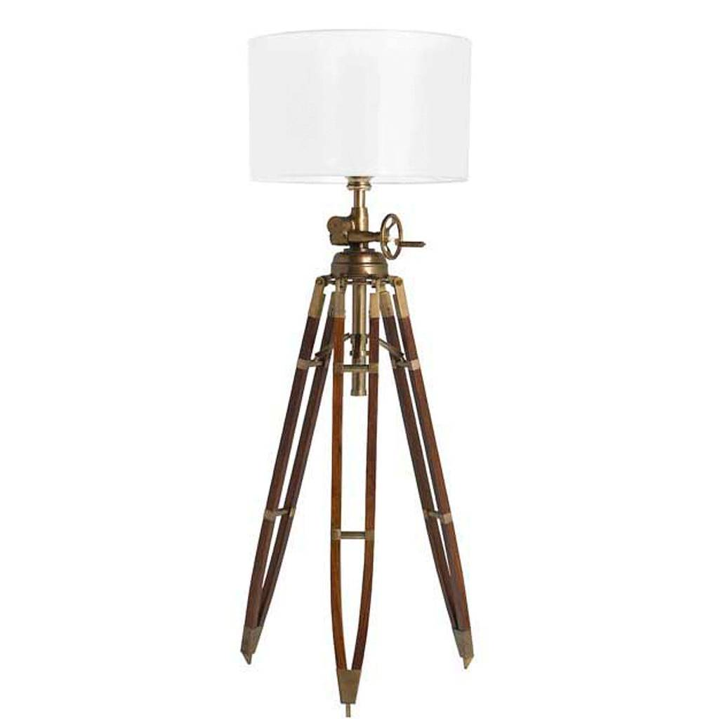 eichholtz floor lamp royal marine grote vloerlamp driepoot van zwart hout en zwarte grote kap. Black Bedroom Furniture Sets. Home Design Ideas