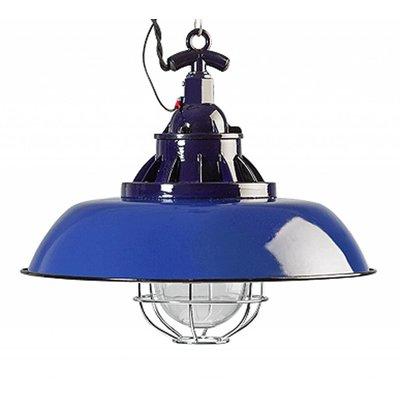 Industriële hanglamp Blauw 38cm
