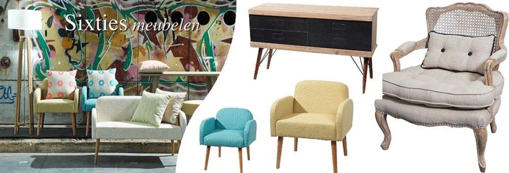 Sixties meubelen stoelen en banken Pomax woonaccessoire inteieur tuimeubelen