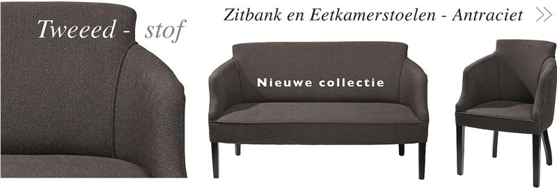 pomax nieuwe collectie stoelen en banken tweed-stof