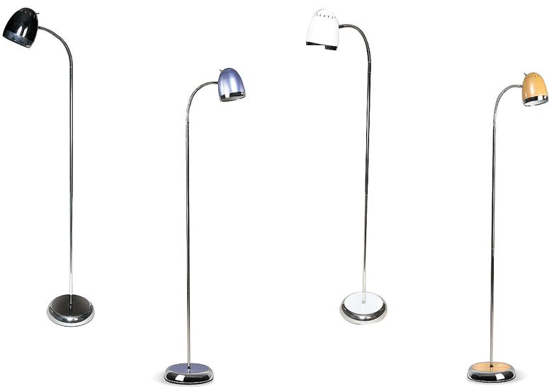 Staande moderne voet lamp chroom zwart choom wit 1 lichts for Moderne lampen