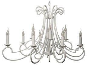 Moderne Kroonluchter wit metaalkleur Ovaal 12 lichts