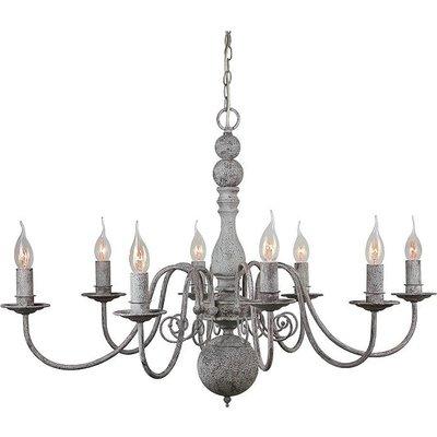 Landelijke Hanglamp Kroonluchter Grijs 87cm