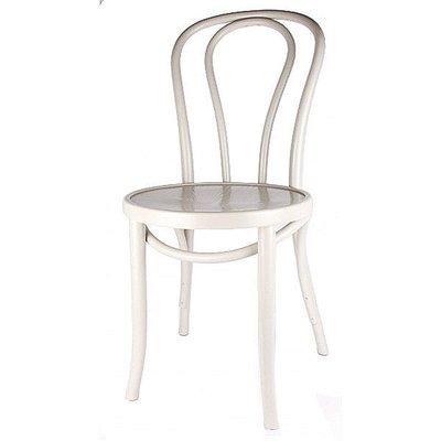 Houten keuken-stoel / Bistrostoel Wit
