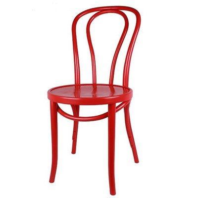 Houten keuken-stoel / Bistrostoel Rood