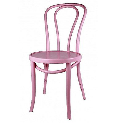 Houten keuken-stoel / Bistrostoel Roze
