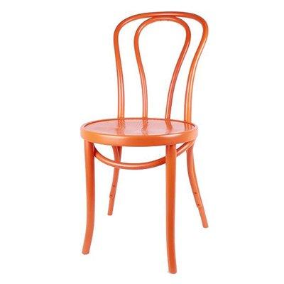 Houten keuken-stoel / Bistrostoel Oranje