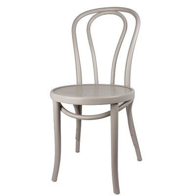 Houten keuken-stoel / Bistrostoel Grijs