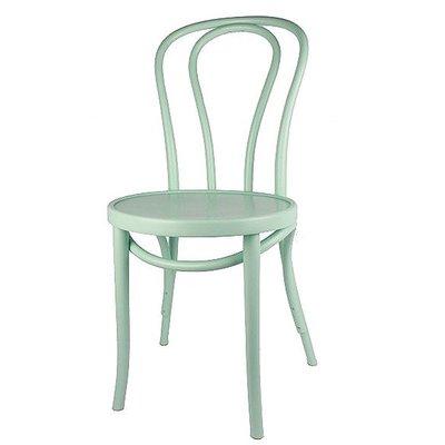 Houten keuken-stoel / Bistrostoel Lichtgroen