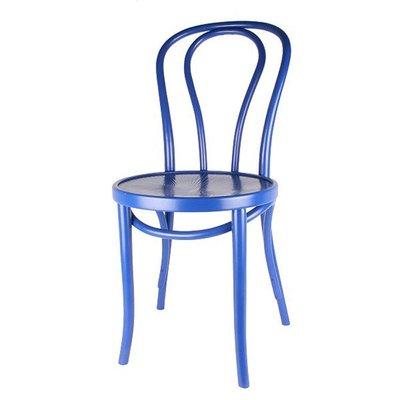 Houten keuken-stoel / Bistrostoel Blauw