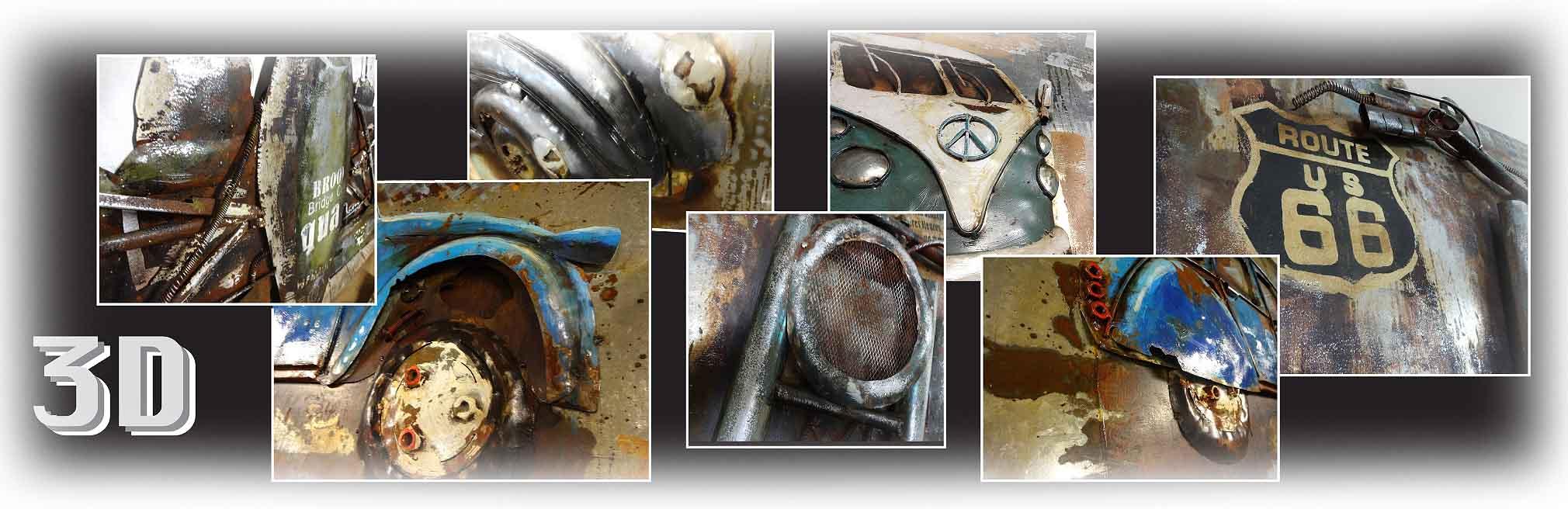 Vaak Webshop grote metalen 3D Schilderijen / Wanddecoraties met diepte  XN-15
