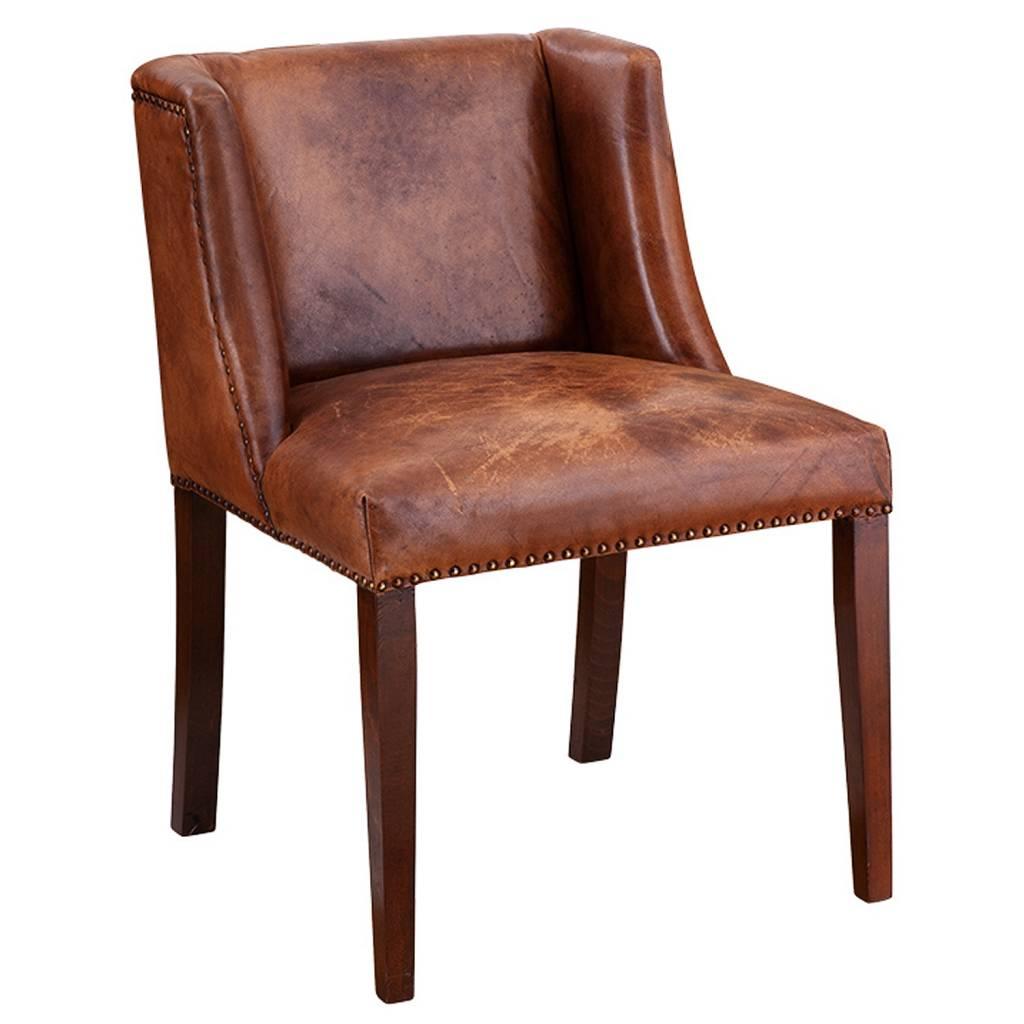 Eichholtz eichholtz ding chair st james stoel van bruin for Lederen stoelen