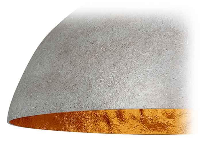 Ronde mat zwarte hanglamp 50cm met goud binnenzijde. mezzo krijt ...