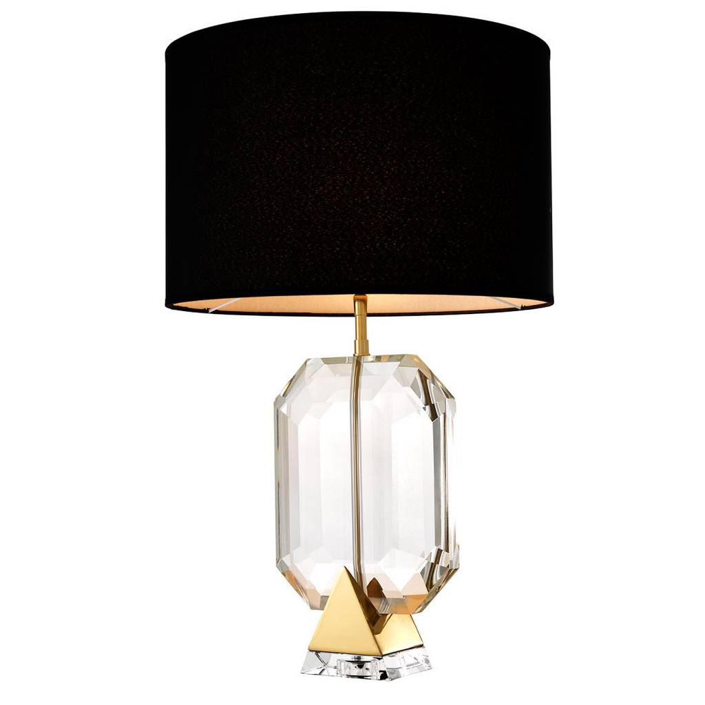 Eichholtz table lamp emerald gold crystal glass for Mooie tafellampen