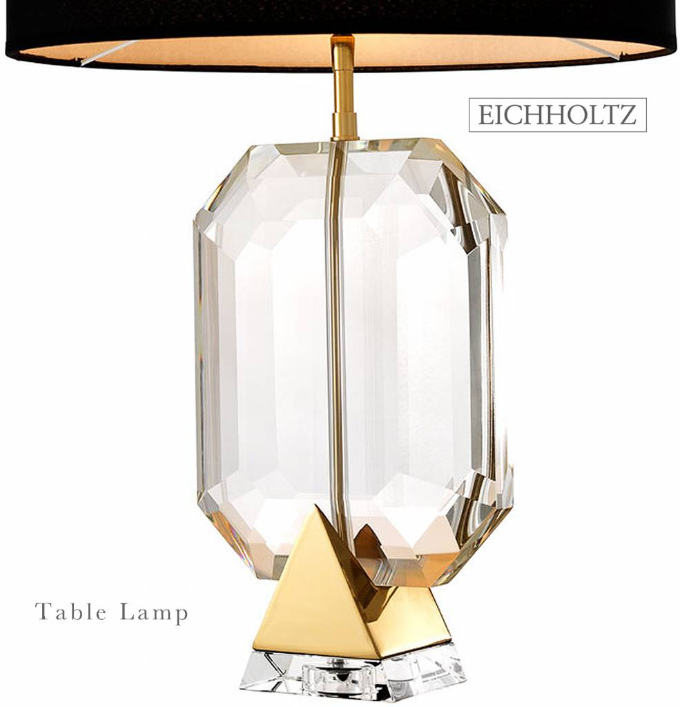 Eichholtz table lamp emerald gold crystal glass for Eichholz interieur