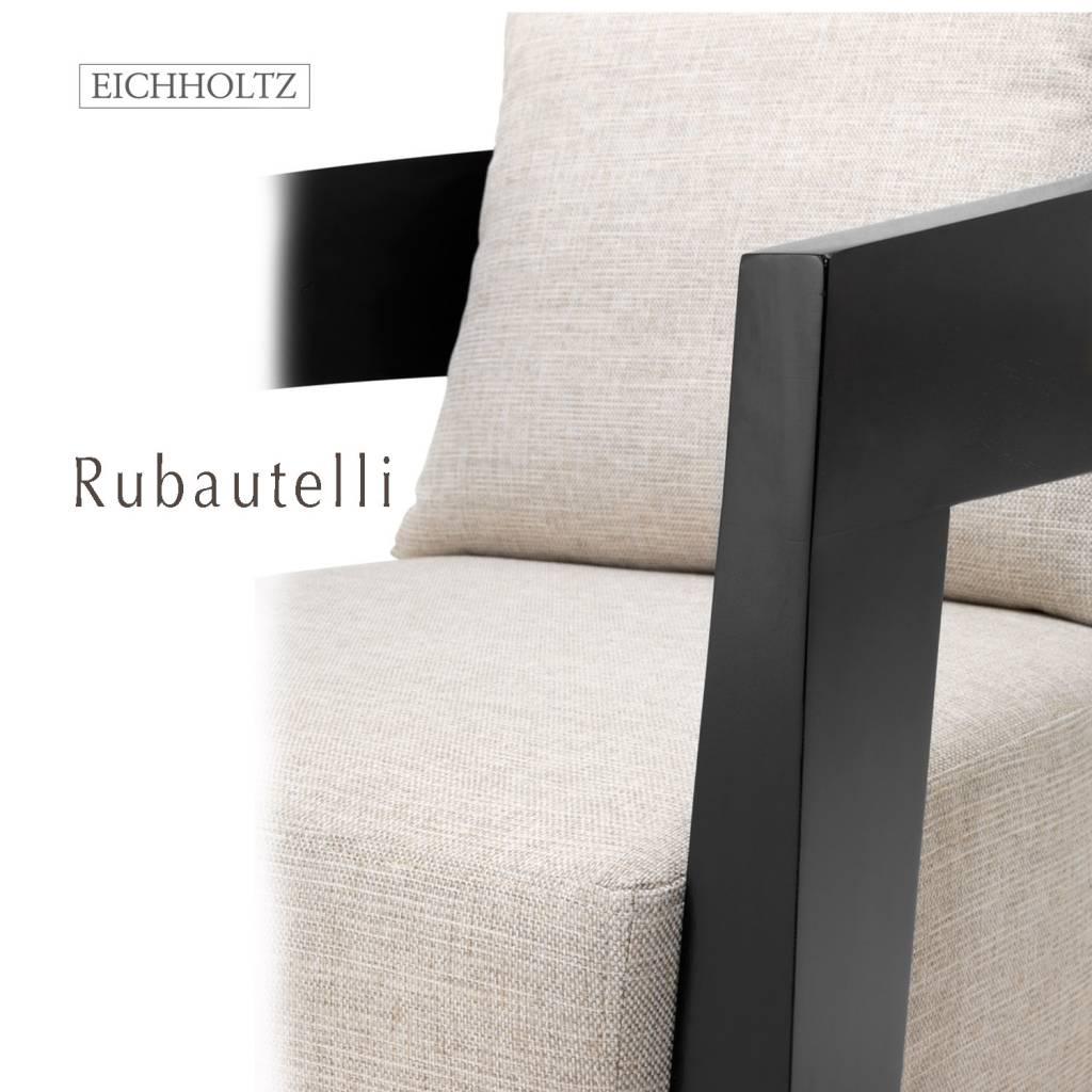 Eichholtz chair rubautelli balc, brown en steel. stoel/fauteuil ...