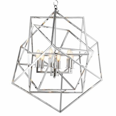 Eichholtz Hanglamp Lantern Matrix nikkel H.78cm
