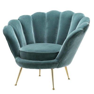 Eichholtz Stoel Chair Trapezium turquoise