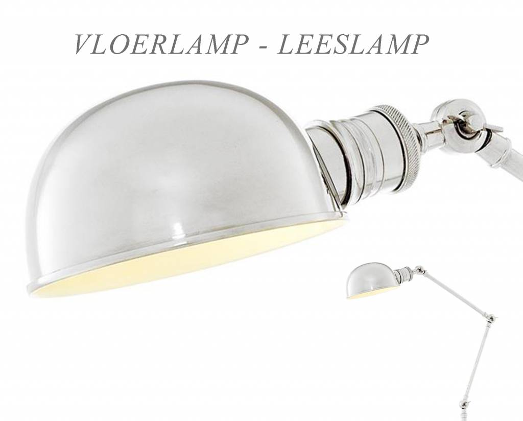 Eichholtz verstelbare vloerlamp zilver nikkel floor lamp soho vloerlampen uit de eichholtz - Klassieke vloerlamp ...