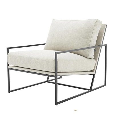 Eichholtz Fauteuil Chair Rowen naturel off-white