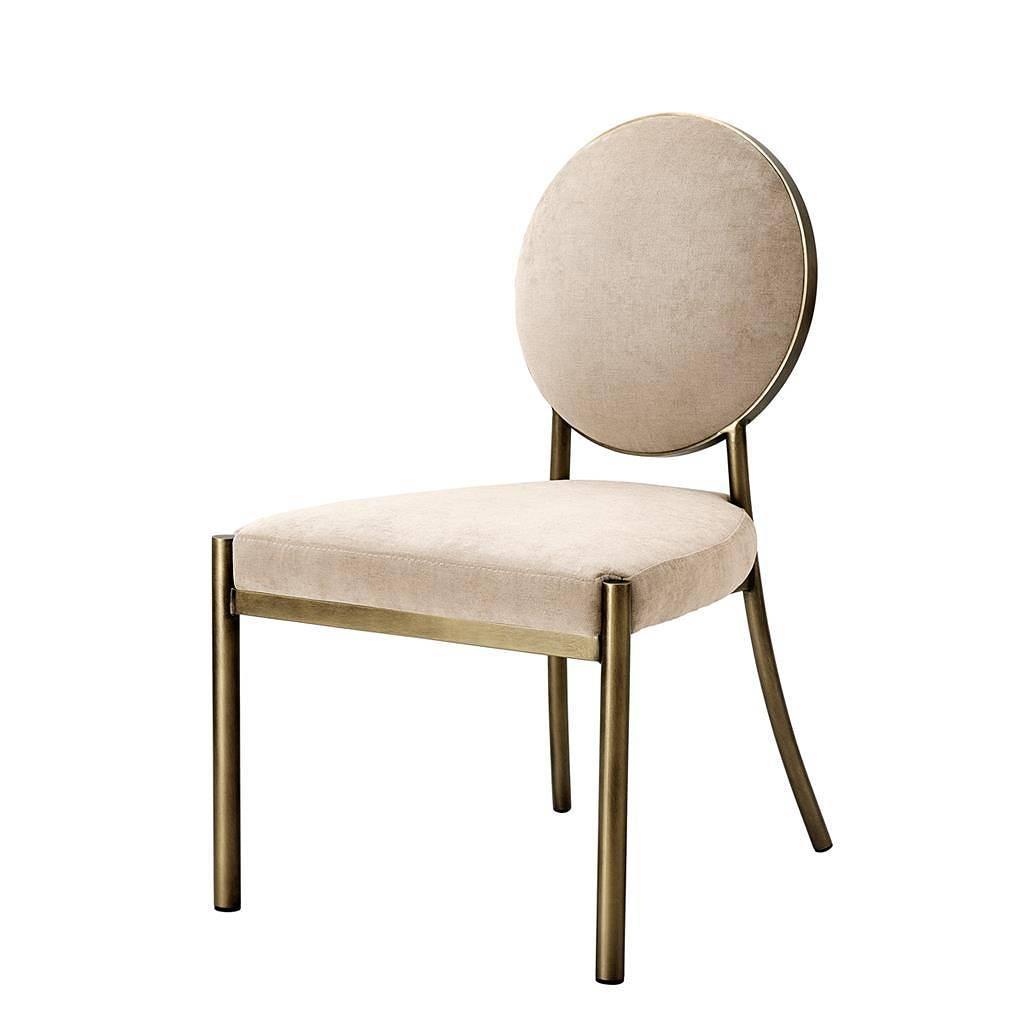 Merk eichholtz stoelen beige brons strakke moderne for Merk stoelen