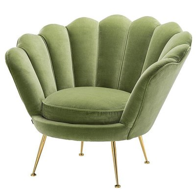 Eichholtz Stoel Chair Trapezium lightgreen