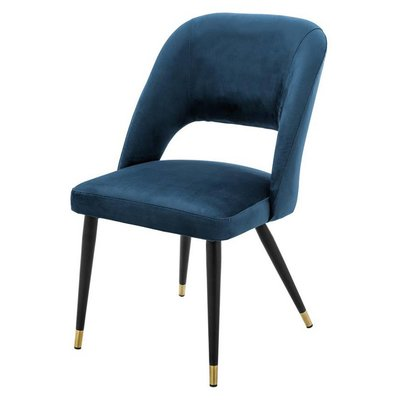 Eichholtz Stoel Dining Chair Cipria blauw velvet