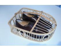 M&T Panier à chaussures en rotin