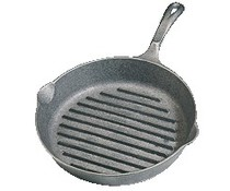 Ribbed cast iron grill pan 26 cm