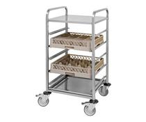 M&T Mobile rack for 5 dishwashing racks