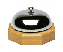 M&T Reception bell chrome on wooden base