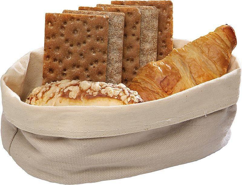 M Amp T Bread Basket Beige Cotton Oval 20 X 15 Cm M Amp T