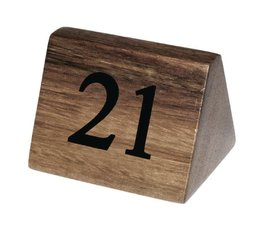 MT Table Number Wood Set From No To No MT International - Table numbers restaurant supplies