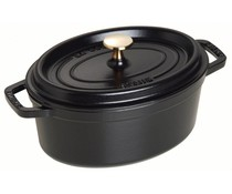 Staub Oval cocotte 37 cm black