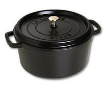 Staub Cocotte round 26 cm black