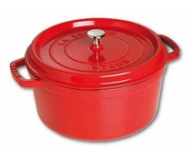 Staub Cocotte rond 22 cm rood