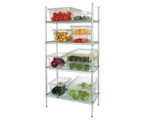 4 Tier Wire Shelving Kit 915x460mm