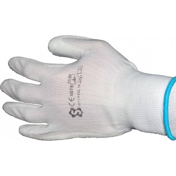 Professionele schildershandschoen. door de latex beschermlaag aan de binnenzijde en rond de vingers wordt ...