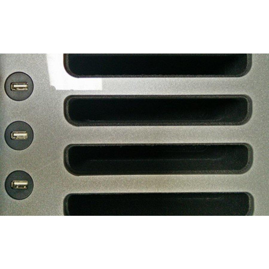 """iNsync C14; robuuste koffer voor 30 iPad Air en 10""""-11"""" tablets, koffer/kar op wieltjes met slot voor opbergen, opladen, synchroniseren & transport-5"""