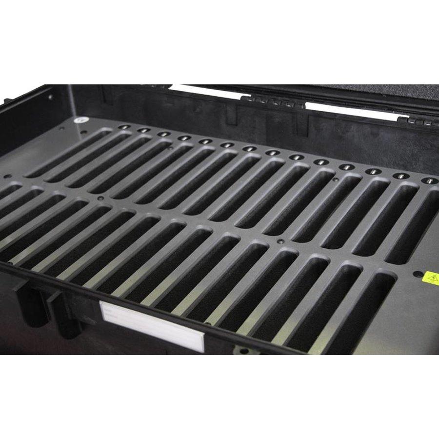 """iNsync C14; robuuste koffer voor 30 iPad Air en 10""""-11"""" tablets, koffer/kar op wieltjes met slot voor opbergen, opladen, synchroniseren & transport-3"""