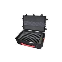 """thumb-iNsync C14; robuuste koffer voor 30 iPad Air en 10""""-11"""" tablets, koffer/kar op wieltjes met slot voor opbergen, opladen, synchroniseren & transport-1"""