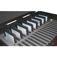 """thumb-iNsync C14; robuuste koffer voor 30 iPad Air en 10""""-11"""" tablets, koffer/kar op wieltjes met slot voor opbergen, opladen, synchroniseren & transport-2"""