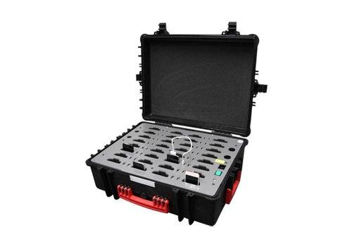 Parotec-IT iNsync C32 iPodkoffer; opslag en transport tot 32 iPod of iPhones zonder en met beschermende case