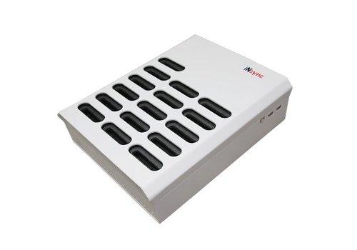 Parotec-IT opladen & syncen DL16 desktop laadstation met autodocking en sync functie voor 16 iPods in meegeleverde hoezen